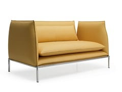 - Contemporary style upholstered leather leisure sofa BOX | Sofa - Quinti Sedute