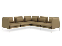- Corner leather leisure sofa BOX | Corner sofa - Quinti Sedute