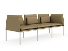 - Upholstered leather leisure sofa BOX | Leather sofa - Quinti Sedute