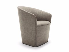 - Upholstered fabric easy chair with armrests BRANDY | Fabric easy chair - Andreu World