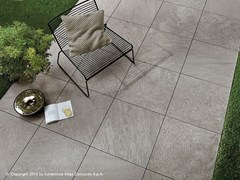 - Porcelain stoneware outdoor floor tiles with stone effect BRAVE FLOOR | Porcelain stoneware outdoor floor tiles - Atlas Concorde