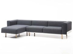 - Sectional 3 seater fabric sofa with chaise longue BREAD | Sofa with chaise longue - D.M.