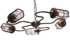 - Direct light handmade chandelier BRECK WELL GLASS LIGHT - Mullan Lighting