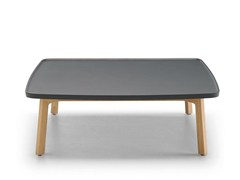 - Low oak coffee table BREDA | Square coffee table - Punt