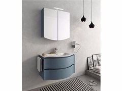- Lacquered wall-mounted vanity unit with drawers BROADWAY B2 - LEGNOBAGNO
