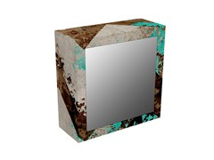 - MDF wall cabinet with mirrored door BS-2V - MOMENTI di Bagnai Matteo