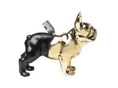 - Salvadanaio in ceramica BULLDOG GOLD-BLACK - KARE-DESIGN