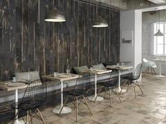 Pavimento/rivestimento effetto legno per interni ed esterniBURN - PERONDA