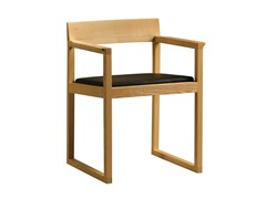 - Cherry wood chair with armrests BURTON | Chair with armrests - Morelato