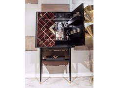 Mobile bar in ebanoBar Cabinet - VISMARA DESIGN