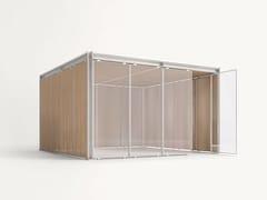 - Aluminium and wood gazebo CABANNE MODULO QUADRO - Paola Lenti