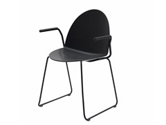- Sled base polypropylene chair with armrests CAMEL | Sled base chair - Segis