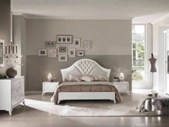 - Double bed with tufted headboard CAMELIA | Lacquered bed - Arvestyle