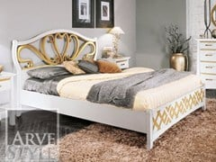 - Lacquered solid wood bed NAIMA | Double bed - Arvestyle
