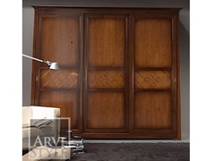 - Solid wood wardrobe with sliding doors NAIMA | Wardrobe with sliding doors - Arvestyle