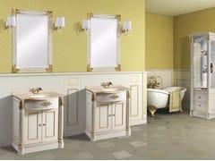 - Lacquered vanity unit with doors with mirror CAPRI CM17DC - LA BUSSOLA