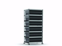 - Methacrylate chest of drawers with casters CAR010 - SEC_car010 - Alias