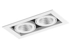 - LED rectangular recessed aluminium spotlight CARDAN 2x33W - LED BCN Lighting Solutions