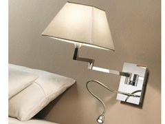 - LED swivel fabric reading lamp CARLOTA DOBLE FLEXO - BOVER Il. Luminació & Mobiliario