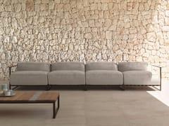 - 4 seater fabric garden sofa CASILDA | Sofa - Talenti