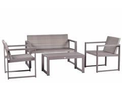 Lounge set da giardino in alluminioCASSIA WICKER - MEDITERRANEO BY GPB