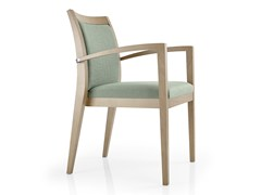 - Stackable leather chair with armrests CASSIS | Chair with armrests - J. MOREIRA DA SILVA & FILHOS, SA