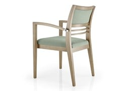 - Open back leather chair with armrests CASSIS | Chair with armrests - J. MOREIRA DA SILVA & FILHOS, SA