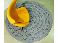- Solid-color round rug CAYMAN - Besana Moquette