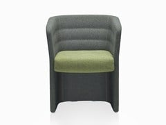 - Fabric guest chair with armrests CELL 75 | Easy chair with armrests - SitLand