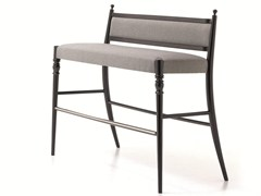 - High upholstered bench with footrest CENTURY 26 H/L - Very Wood
