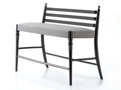 - High beech bench with footrest CENTURY 36 H/L - Very Wood