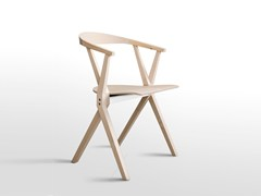 - Folding wooden chair with armrests CHAIR B | Wooden chair - BD Barcelona Design