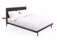 - Leather double bed with upholstered headboard CHAMBRE BED II - STELLAR WORKS