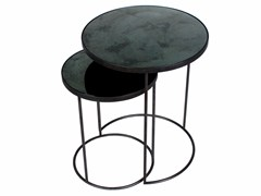 - Round side table CHARCOAL NESTING SIDE TABLE SET - Notre Monde