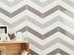 Rivestimento in ceramica a pasta bianca per interniCHEVRON - CEVICA S.L.