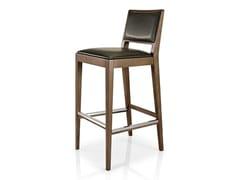 - Leather counter stool with footrest CIBELLE   Counter stool - J. MOREIRA DA SILVA & FILHOS, SA