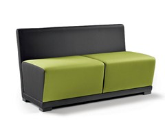 - Upholstered bench with back CIRCUIT | Bench with back - D.M.