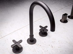 - 3 hole chromed brass washbasin tap CLASSIC ICONA - Fantini Rubinetti