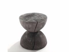 - Cedarwood garden stool CLESSIDRA OUTDOOR - Riva 1920