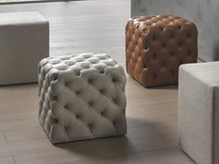 - Tufted upholstered pouf CLOD | Leather pouf - Pacini & Cappellini