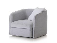 - Fabric armchair with armrests COAST | Fabric armchair - Arketipo