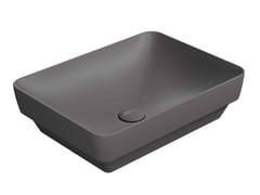 Lavabo a semincasso rettangolare in ceramicaPURA 50/60/TI - GSI CERAMICA