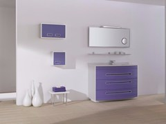 - MDF vanity unit with drawers with mirror COLORS LINES 01 - Fiora