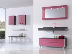 - MDF vanity unit with drawers with mirror COLORS LINES 10 - Fiora