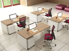 - Rectangular melamine-faced chipboard workstation desk COMPACT C18A - Arcadia Componibili - Gruppo Penta