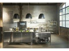 Modulo cucina freestanding in acciaio inox ISOLE CUCINA 190 - ALPES-INOX