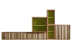 - Modular wooden storage wall MODULO ZERO | Storage wall - Morelato