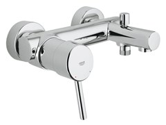 - 2 hole single handle bathtub / shower mixer CONCETTO | Wall-mounted bathtub mixer - Grohe