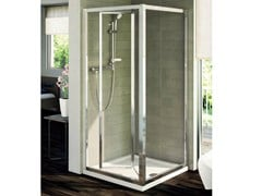 - Tempered glass shower cabin with folding door CONNECT - mod. PS - Ideal Standard Italia