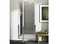 - Tempered glass shower cabin with pivot door CONNECT - mod. PV - Ideal Standard Italia